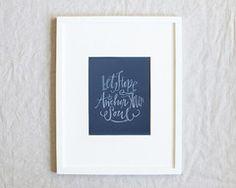 Let Hope Anchor Your Soul Print #lindsaylettersshop