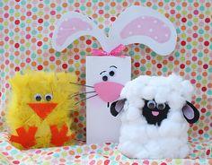 chick, rabbit, lamb wood blocks for craft show