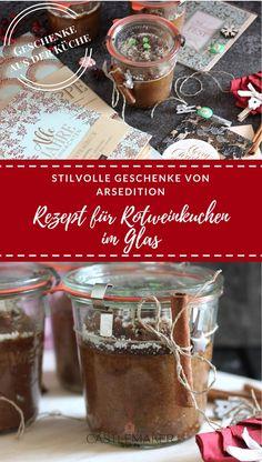 Anzeige! Auf meinem Blog habe ich ein Rezept für einen saftigen Rotweinkuchen im Glas für Euch. Eine tolle Geschenkidee für die Weihnachtszeit. Außerdem präsentiere ich die tolle Edition deluxe von ArsEdition mit wunderschönen Papeterie-Produkten. Schaut doch mal rein. #rotweinkuchen #weihnachten #bringtfreude #geschenkeausderküche #diy