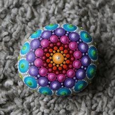 chakra steen regenboog meditatie mandala