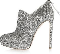 Coleter Women's Sliver Glitter Stiletto Zip Pumps Platform Round Toe High Heels 15 M US
