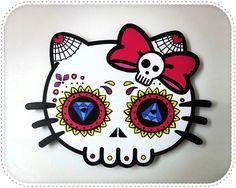 un gato por decoracion de dia de los muertos