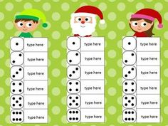 Roll and Write FREEBIE! (Use with letters for Pre-Kindergarten. Great for sight words in Kindergarten and First Grade. Sight Word Centers, Sight Word Activities, Literacy Activities, Literacy Centers, Toddler Activities, Christmas Activities, Christmas Themes, Winter Activities, Theme Noel