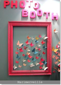 Pic frame and card stock butterflies- awesome