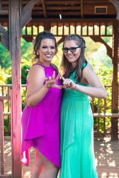 What a sweet big/little pair Meghan and Rachel make!