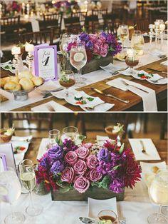 purple wedding decor ideas