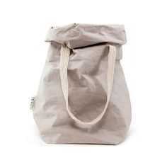 Uashmama Carry Bag - Grey: This two handled carry bag from Italian label Uashmama is perfect for storing knitting, for shopping, laundry, as a beach bag or an oversized handbag. It is made in Italy from a unique washable paper that is as strong as leather, but is washable like a fabric and will hold its form for future use.