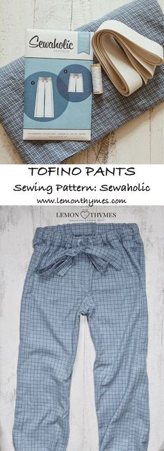 Tofino Pants by Sewaholic. These comfortable yet pretty pyjama pants are perfect for lounging at home. They are a quick and easysewing project that can be finished within an afternoon (skill level: advanced beginner). SEWING PATTERN REVIEW | lemonthymes.com