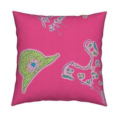 90s Neon Square Pillow by menny | Roostery Home Decor