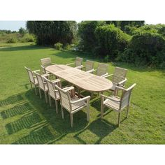 Lot de 2 bains de soleil - Table basse en bois de teck huilé ...