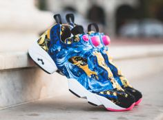 Ostentatiously done through a series of baroque graphics, the upcoming CONCEPTS x Reebok Insta Pump Fury hints on a design that's relatable to Donatella Insta Pump Fury, Reebok Insta Pump, Reebok Retro, Donatella Versace, 20th Anniversary, Cheetah Print, Product Launch, Pumps, Concept