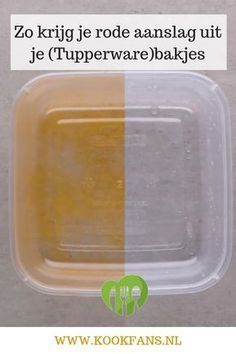 This way you get red deposits from your (Tupperware) containers - This way you get red deposits from your (Tupperware) containers. Deep Cleaning Tips, House Cleaning Tips, Natural Cleaning Products, Spring Cleaning, Eco Products, Cleaning Checklist, Tupperware, Bathroom Cleaning Hacks, Toilet Cleaning