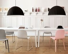 Buy ‪Muuto‬ Under the Bell Pendant Online. Select From Our Huge, Scandinavian, Modern, Muuto Range. Scandi Living, Nordic Living, Deco Pastel, Scandinavia Design, Scandinavian Home, Scandinavian Chairs, Interiores Design, Interior Inspiration, Office Looks