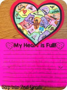 Step into 2nd Grade with Mrs. Lemons - 'My heart is full'  Valentine's Day Activity