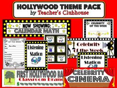 Hollywood Theme Classroom | Teaching Maddeness*: Friday Flashback: Shout-Out, Themes, & a ...
