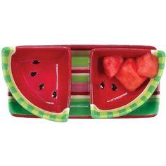 Boston Warehouse Picnic Party Watermelon 3-Piece Serving Set