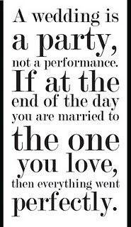 What every bride and groom should remember. :)