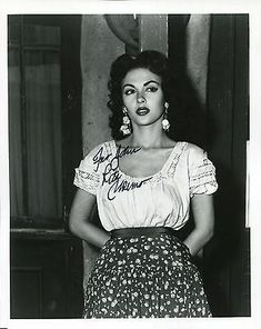 Rita Moreno Hand Signed Photo COA Gorgeous Young Actress to John Glamour Hollywoodien, Old Hollywood Glamour, Vintage Glamour, Vintage Hollywood, Vintage Beauty, Vintage Fashion, Rita Moreno, Young Actresses, Female Actresses