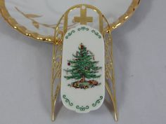 Spode Christmas Tree MIniature Sled/Sleigh by SecondWindShop, $5.00