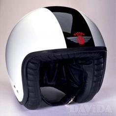 Davida jet Helmets:  two tone White,Black  Product Code: 80210