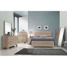 Discover the best coastal bedroom furniture sets, which includes matching coastal beds, beach dressers, coastal headboards, beach nightstands, and more. King Bedroom Sets, Bedroom Sofa, Master Bedroom, Bedroom Wall Units, Bedroom Furniture For Sale, Coastal Furniture, Wood Furniture, Bedroom Images, Bed Design