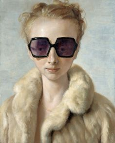 The modern Master, John Currin. Portrait of his wife, Rachel.