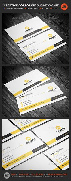 Creative & Modern Corporate Business Card - http://graphicriver.net/item/creative-modern-corporate-business-card/16713805?ref=mengloong