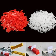 Special for Plastic Ceramic Tile Leveling System 200 Wedges Tiling Flooring Tools Wedges Clips If You will buy for Tiles F. Flooring Tools, Types Of Flooring, Flooring Options, Ceramic Floor Tiles, Tile Floor, How To Remove Caulking, Caulk Removal Tool, Tile Leveling System
