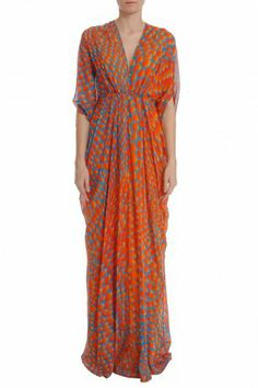 Print Chiffon Drape Gown by ISSA