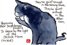 Old Possum's Book of Practical Cats | dosankodebbie's etegami notebook: eliot's cats
