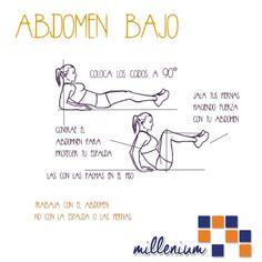 Y para acabar las calorías del día #recordemos el trabajo para el abdomen bajo.