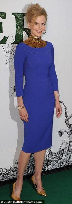Love this dress on Nicole Kidman! Cobalt Dress d75731af9