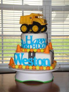 2year old boy birthday cake trucks dumptruck birthdays