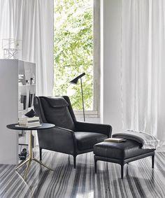 Edouard Armchair - B&B Italia: Tangram Furnishers Edinburgh, Scotland B & B, Interior Design Living Room, Living Room Decor, Design Interiors, Luxury Furniture, Furniture Design, Patrick Norguet, Tangram, Italia Design