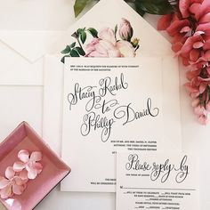 Elegant invitation with floral, colorful illustrations on the inside of the envelope.   Picture By: Van Tran  email: vanvtran2020@gmail.com