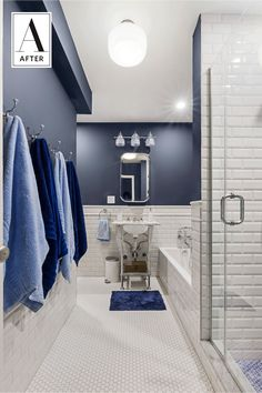 Before & After: An Oppressive Beige Bathroom Gets a Dose of Color