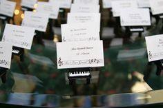 Baby Grand Piano Escort Cards - MUSIC Themed Wedding #babygrandpiano #musicthemewedding #musicescortcards #pianoescortcards #longislandwedding