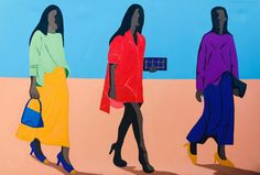 Shakes Tembani: Going To The Party: fine art | StateoftheART African Art, Contemporary Art, Disney Characters, Fictional Characters, Original Paintings, Fine Art, Disney Princess, Canvas, Gallery