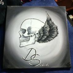 Death-Survival There is always a choice. #DeathSurvival #deathandsurvival #death #survival #skull #skullandwings #wings #blackandwhite #blackwhiteandgrey #thereisalwaysachoice #art #instaart #instapaint #artist #artlover #painter #painting #paint #colors
