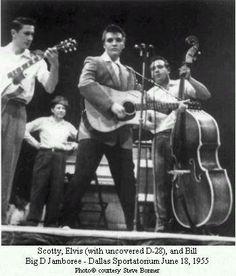 Scotty Moore Elvis and Bill Big D Jamboree - Dallas Sportatorium 1955 photo courtesy of Steve Bonner