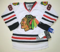 NHL Reebok Chicago Blackhawks Patrick Kane Youth Stitched Premier S/M Jersey White by Reebok. $90.50. NHL Reebok