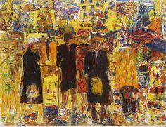 "huariqueje: "" Harjutori Square - Rafael Wardi , Finnish, Oil on canvas, 115 cm. Modern Art, Contemporary Art, Art Station, Traditional Art, All Art, Finland, Art Museum, Oil On Canvas, Cats"