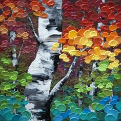 """""""Canadian Autumn"""" 10""""x10"""" Contemporary Abstract Landscape Artist Melissa McKinnon features BIG COLOURFUL PAINTINGS of Aspen & Birch Trees, Rocky Mountains and stunning views of the Canadian prairies, big skies and ocean beaches. Be the first to hear about NEW PAINTINGS, works in progress and news from my studio, Sign Up For MyMonthly EMAIL NEWSLETTER! http://eepurl.com/rqj-L  Website & Blog: www.melissamckinnon.wordpress.com"""