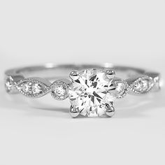 This is my dream ring. In case anyone was wondering. White Gold Tiara Diamond Ring from Brilliant Earth