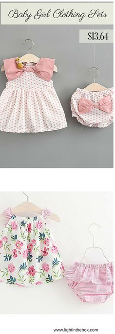 68912b13476   12.28  Baby Girls  Daily Polka Dot Sleeveless Regular Cotton Clothing Set  Pink   Cute   Toddler