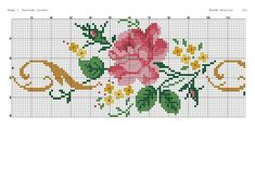 Cross Stitch Rose, Cross Stitch Flowers, Little Designs, Bargello, Rose Bouquet, Diy And Crafts, Kids Rugs, Couture, Embroidery