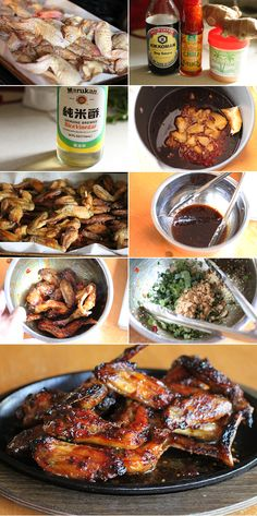 How to make Thai sticky chicken wings (maybe use on thighs or drumsticks to be healthier).