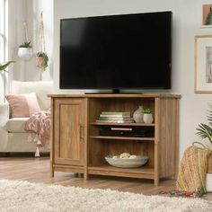 Bay Isle Home Liv Cabinet TV Stand for TVs up to inches Living Room Furniture, Home Furniture, Coffee Table With Storage, Wood Patterns, Hidden Storage, Viera, Panel Doors, Adjustable Shelving, Brown And Grey
