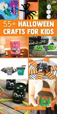 You'll love this huge list of Halloween crafts for kids! Fun cute bats, witches, & spiders are all ready to be created using these ideas! This list includes tons of cute kids' crafts including your favorite monster crafts, vampire crafts, ghost crafts, and more! #Halloween #HalloweenCrafts #KidsCrafts #HalloweenKidsCrafts Cute Kids Crafts, Fun Diy Crafts, Halloween Crafts For Kids, Kids Fun, Diy Craft Projects, Craft Ideas, Monster Crafts, Ghost Crafts, Cute Bat