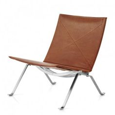 Buy the Chair Grace Leather by Poul Kjærholm and more online today at The Conran Shop, the home of classic and contemporary design Outdoor Chairs, Outdoor Furniture, Outdoor Decor, Poul Kjaerholm, Butterfly Chair, Brushed Stainless Steel, Contemporary Design, Relax, Elegant